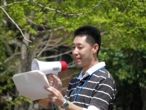 古賀青年局員の演説