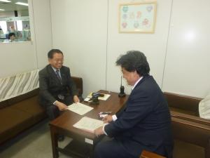平成22年5月31日(月)古賀市教育員会を訪問