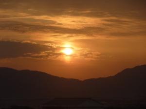 臨時議会開催日(2月10日)の旭日