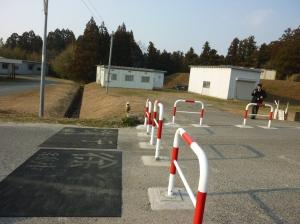 曽根体育館入口に設置されたゲート