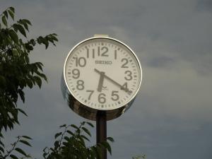 正確な時を刻んでいる時計(平成25年8月4日撮影)