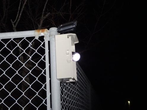 ソーラーパネル発電の灯光器