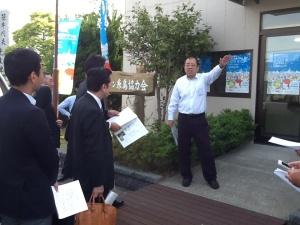 福岡マラソン糸島協力会事務局長から説明を頂く