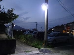 明るくなって喜ばれている神在保育所の外灯