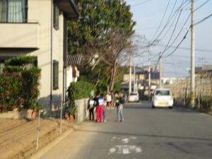 交差点付近の通学路
