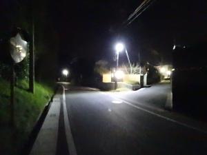 新たにLED防犯灯が設置された場所(篠原西)