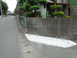 完全復旧した側溝(6月30日撮影)