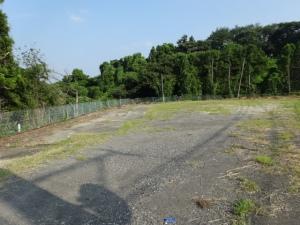 雑草が刈られすっきりなった空き地