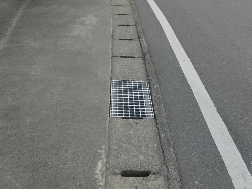 グレーチング蓋に変わった側溝