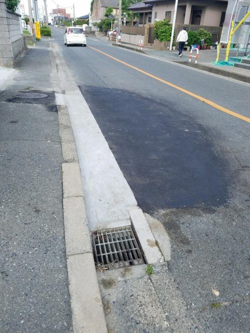 改修工事が完了した市道及び歩道