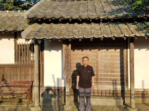 福岡市西区女原の宮崎安貞翁の書斎を訪問